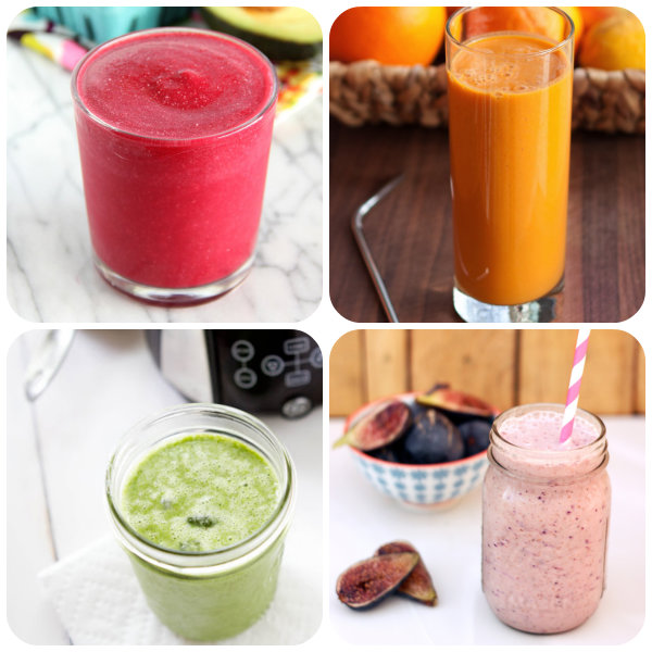 collage smoothies