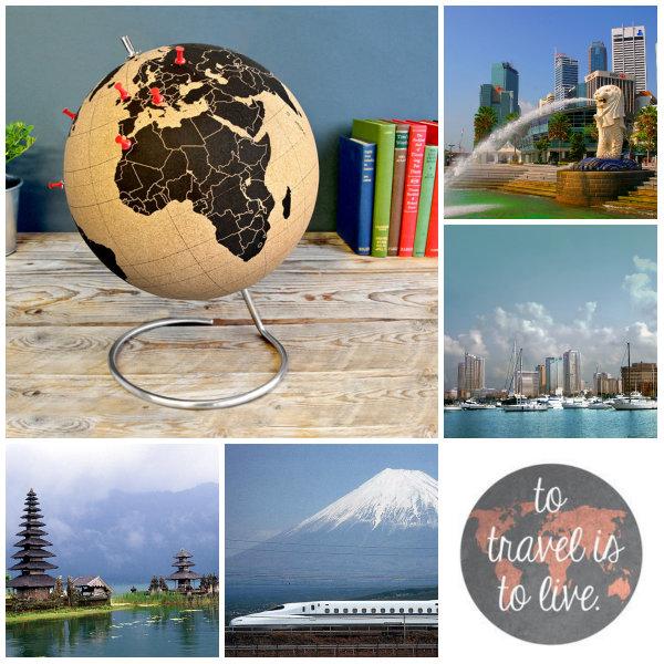 collage globe