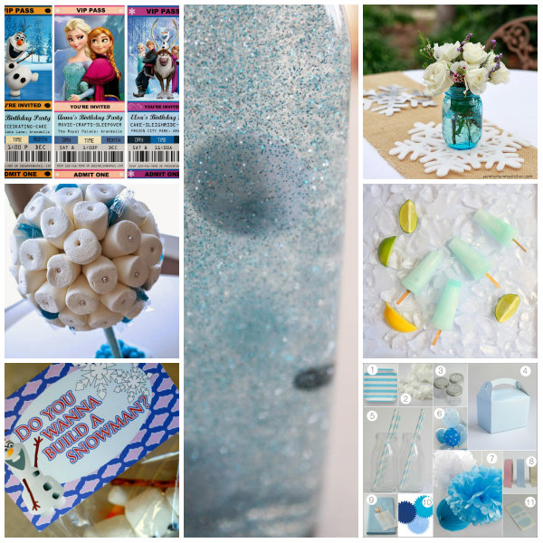 collage frozen party