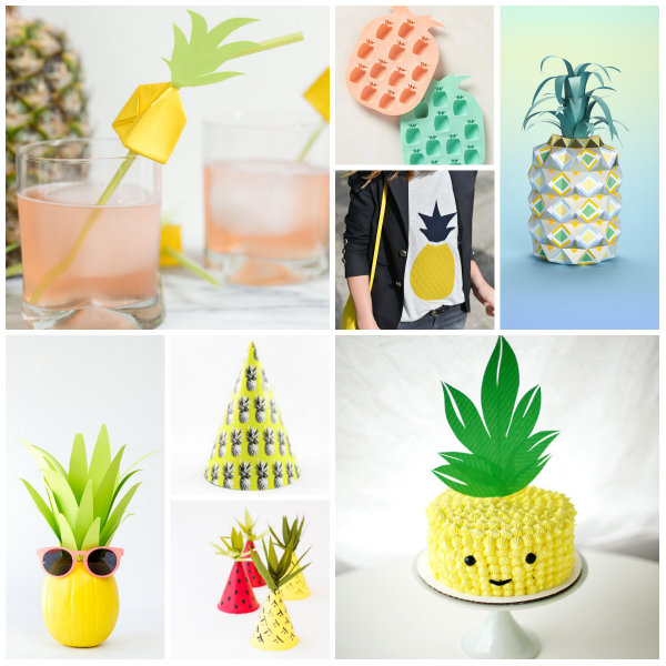 collage pineapple