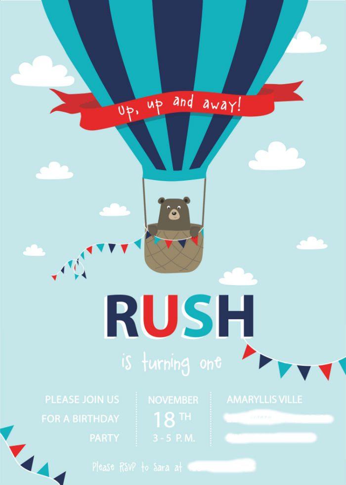 Birthday Invitation_Rush